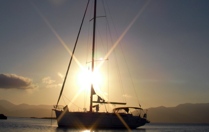 Viaggio un barca a vela