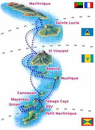 Itinerario Grenadine